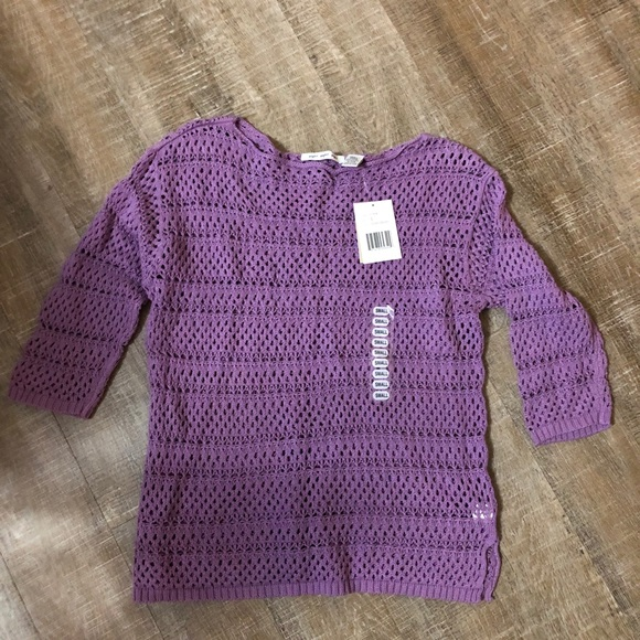 NWT Open Knit 3/4 Sleeve sweater